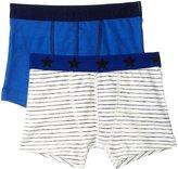 Petit Bateau 2 Pack Boxers (Toddler/Kid) - Blue White - 3 Years