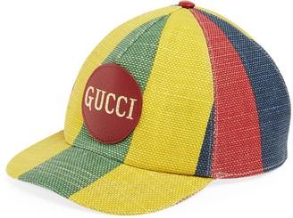 Gucci Baiadera stripe baseball hat