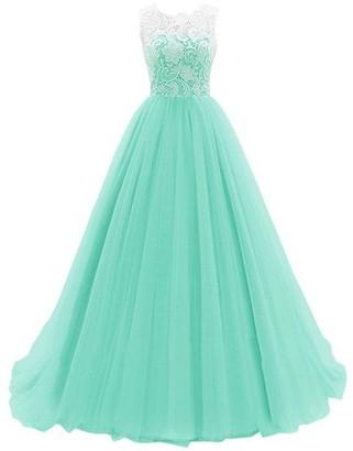 kekehouse A-Line Wedding Bridesmaid Dress Lace Size Long