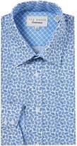 Ted Baker Men's Nimph Leaf Tonal Print Shirt