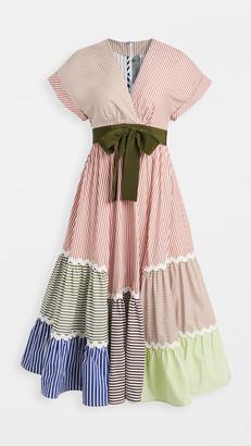 Silvia Tcherassi Marta Ligia Mix Stripe / Rickrack Dress