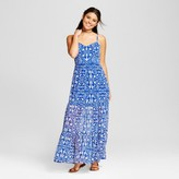 Xhilaration Women's Floral Maxi Dress Juniors') Royal Blue