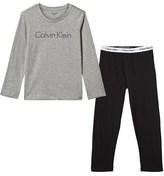 Calvin Klein Grey and Black Branded Pyjama Set