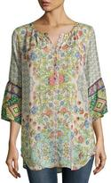 Johnny Was Tempo Button-Front Georgette Top