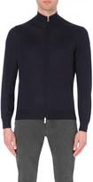 Brunello Cucinelli Stripe-detail cashmere and silk-blend cardigan