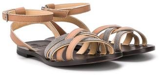BRUNELLO CUCINELLI KIDS Caged Sandals