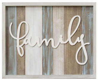"Stratton Home Decor Rustic ""family"" Wood Wall Decor"