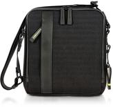 Bric's Black Nylon and Leather Crossbody Bag