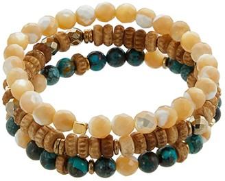 Chan Luu Set of Three Semi-Precious Stone Bracelets (Natural Mix) Bracelet