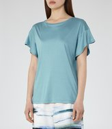 Reiss Mercer - Batwing T-shirt in Blue, Womens