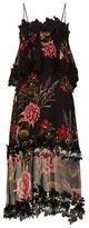Nicholas Floral Overlay Midi Dress