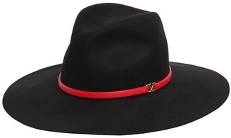 Valentino Go Logo Felt Hat W/Leather Hat Band