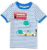 Class Club Adventure Wear by Little Boys 2T-6 Bus Applique Striped Short-Sleeve Tee