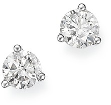 Bloomingdale's Diamond Stud Earrings in 14K White Gold 3-Prong Martini Setting, 0.40 ct. t.w. - 100% Exclusive