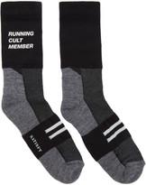 Satisfy Black and Grey Patchwork Tube Socks