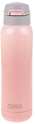 Oasis Stainless Steel Insulated Sports Bottle with Inbuilt Straw 500ml Soft Pink