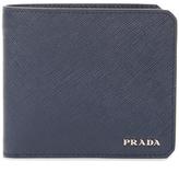 Prada Curved Edge Leather Bifold Wallet
