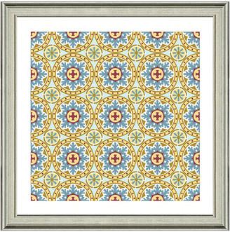 Vintage Print Gallery Exotic Opulent Tiles Ii Framed Graphic Art
