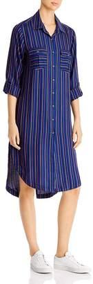 BILLY T Striped Shirt Dress