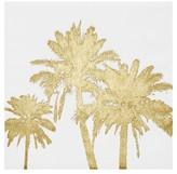 Nobrand No Brand Palms Foil Embellished Canvas - Gold