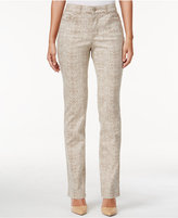 Charter Club Lexington Snakeskin-Print Straight-Leg Jeans, Only at Macy's