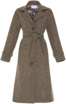 Luisa Beccaria Belted Wool Coat