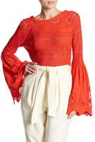 Free People Once Upon a Time Linen Blend Sweater