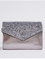 Marks and Spencer Kids' Faux Leather Sequin Envelope Cross Body Bag