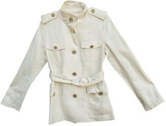 Gloverall White Cotton Jacket for Women
