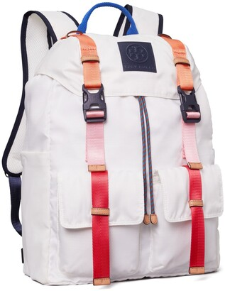 Tory Burch Ripstop Nylon Color-Block Backpack