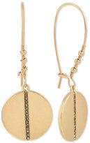 Kenneth Cole New York Gold-Tone Pavé Row Disc Drop Earrings