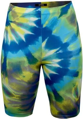 AFRM Khloe Tie Dye Bike Shorts