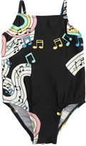 Mini Rodini Music Printed Lycra One Piece Swimsuit