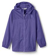 Classic Girls Navigator Solid Rain Jacket-Midnight Navy Garden