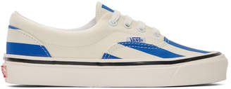 Vans Blue and White Striped Era 95 DX Sneakers