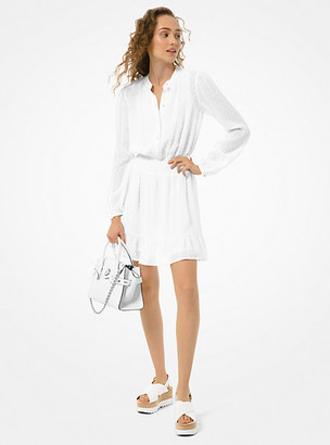 MICHAEL Michael Kors MK Dot Jacquard Dress - White - Michael Kors