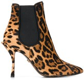 Dolce & Gabbana Leopard Print Stiletto Boots