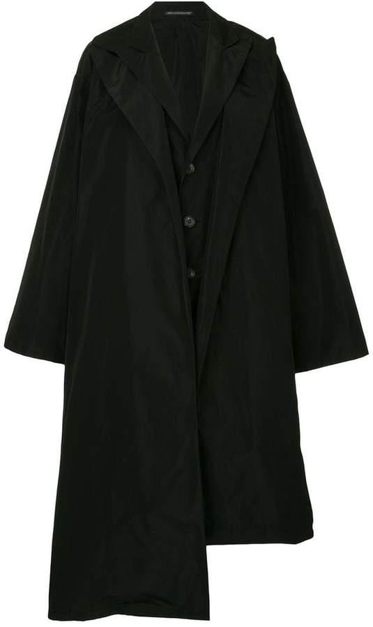 Yohji Yamamoto oversized deconstructed coat