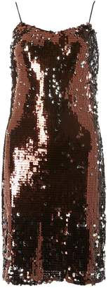Dorothy Perkins Womens **Tall Chocolate Brown Sequin Slip Dress, Brown