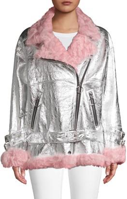 Nicole Benisti Bowery Leather & Shearling Jacket