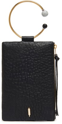 THACKER Nolita Beaded Ring Handle Leather Clutch