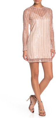 Line & Dot Christi Sheer Sequin Mini Dress