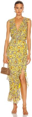 Saloni Anita Dress in Citrus Jungle Monkey | FWRD