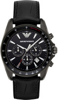 Emporio Armani AR6097 Sigma stainless steel and leather watch