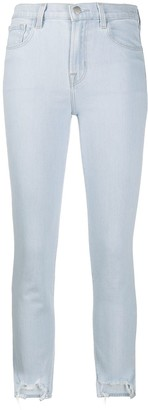 J Brand Step-Hem Skinny Jeans