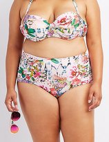 Charlotte Russe Plus Size Floral High-Waisted Bikini Bottoms