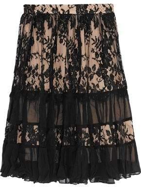 Zimmermann Karmic Cotton-Blend And Lace Skirt