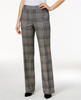 Charter Club Plaid Tummy Control Trousers, Only at Macy's