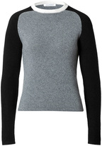 J.W.Anderson Cashmere Raglan Colorblock Pullover in Grey/Black