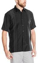 Cubavera Men's Short-Sleeve Textured Ombre Embroidery Woven Shirt
